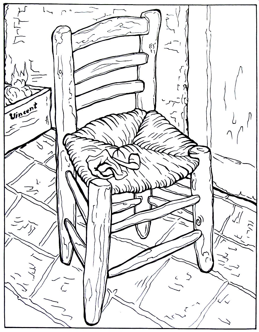 1047x1343 Vincent's Chair With His Pipe