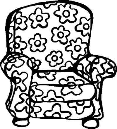 400x441 Chair Color Page Furniture Coloring Pages Color Book Free
