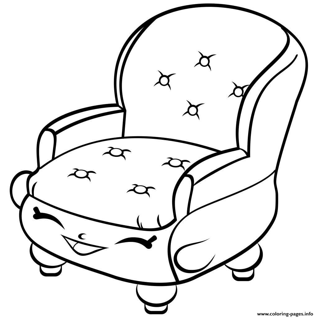 1024x1024 Chair Shopkins Coloring Pages Download