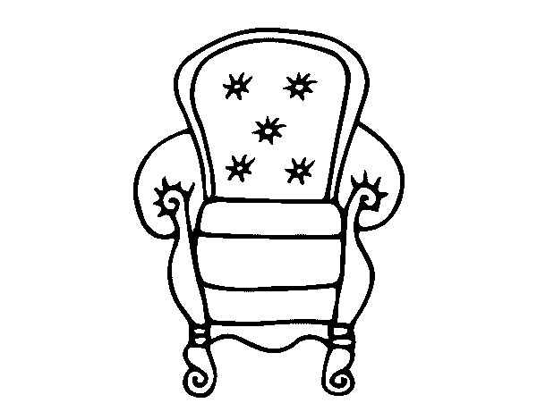 600x470 Classic Armchair Coloring Page