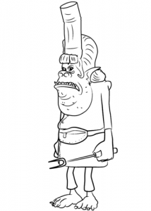 214x300 Marvelous Ideas Trolls Movie Coloring Pages Chef From Trolls Movie
