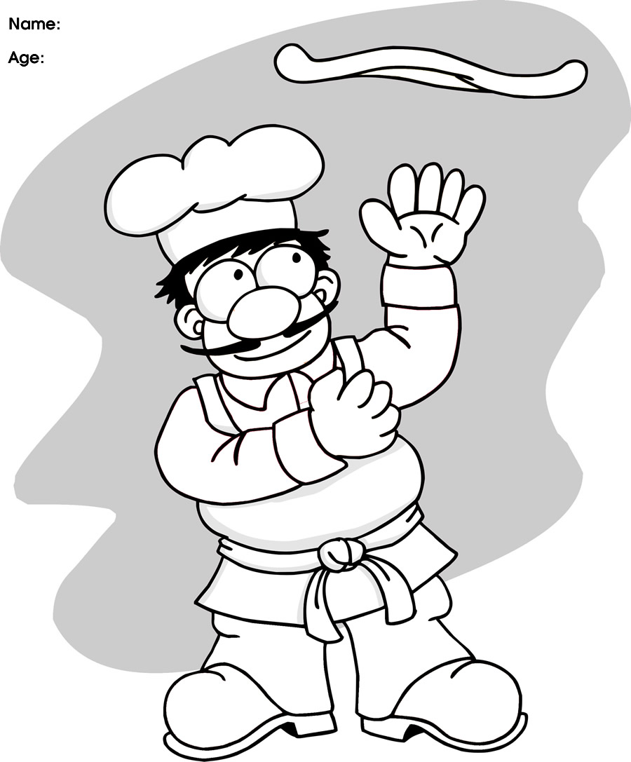 900x1087 Pizza Pictures For Kids Clipartsco Pizza Chef Coloring Page