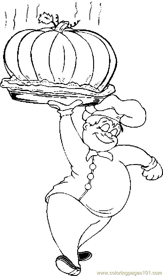 532x900 Chef Baked Pumpkin Coloring Page