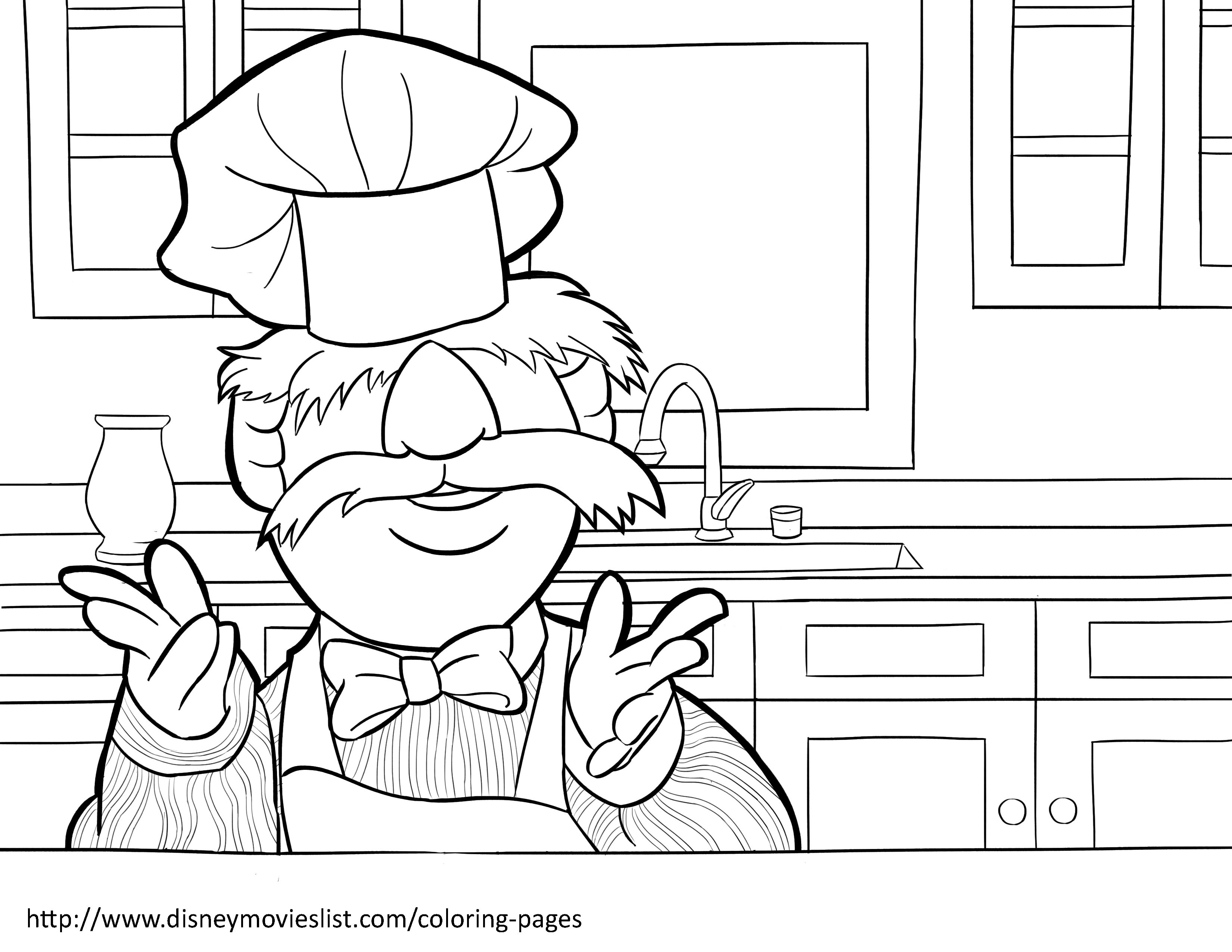 3300x2550 The Muppets Coloring Pages Location Chicago Printable Muppet Free