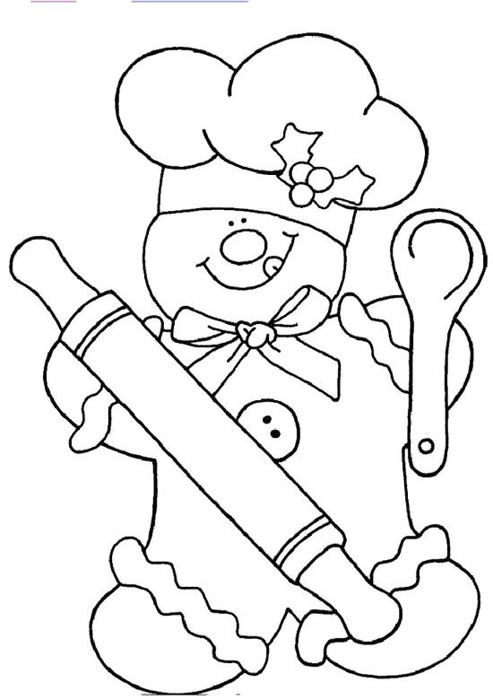 550x780 Chef Gingerbread Coloring Page Applique