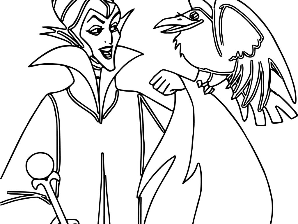 1024x768 Disney Maleficent Coloring Pages To Print General Wings Angelina