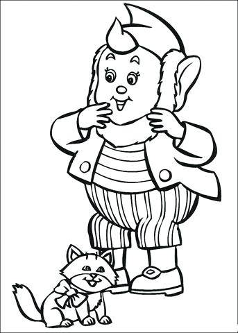 343x480 Ear Printable Coloring Page Big Ears And The Cat Coloring Page