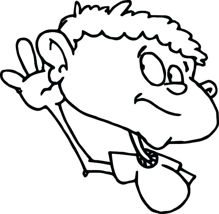 728x712 Ears Coloring Page Ear Coloring Page Child Ear Sense Coloring Page