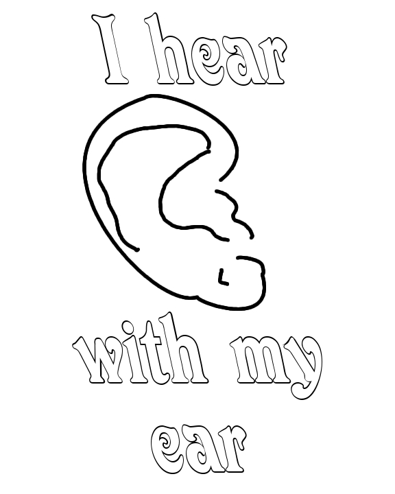 576x720 Ears Coloring Pages