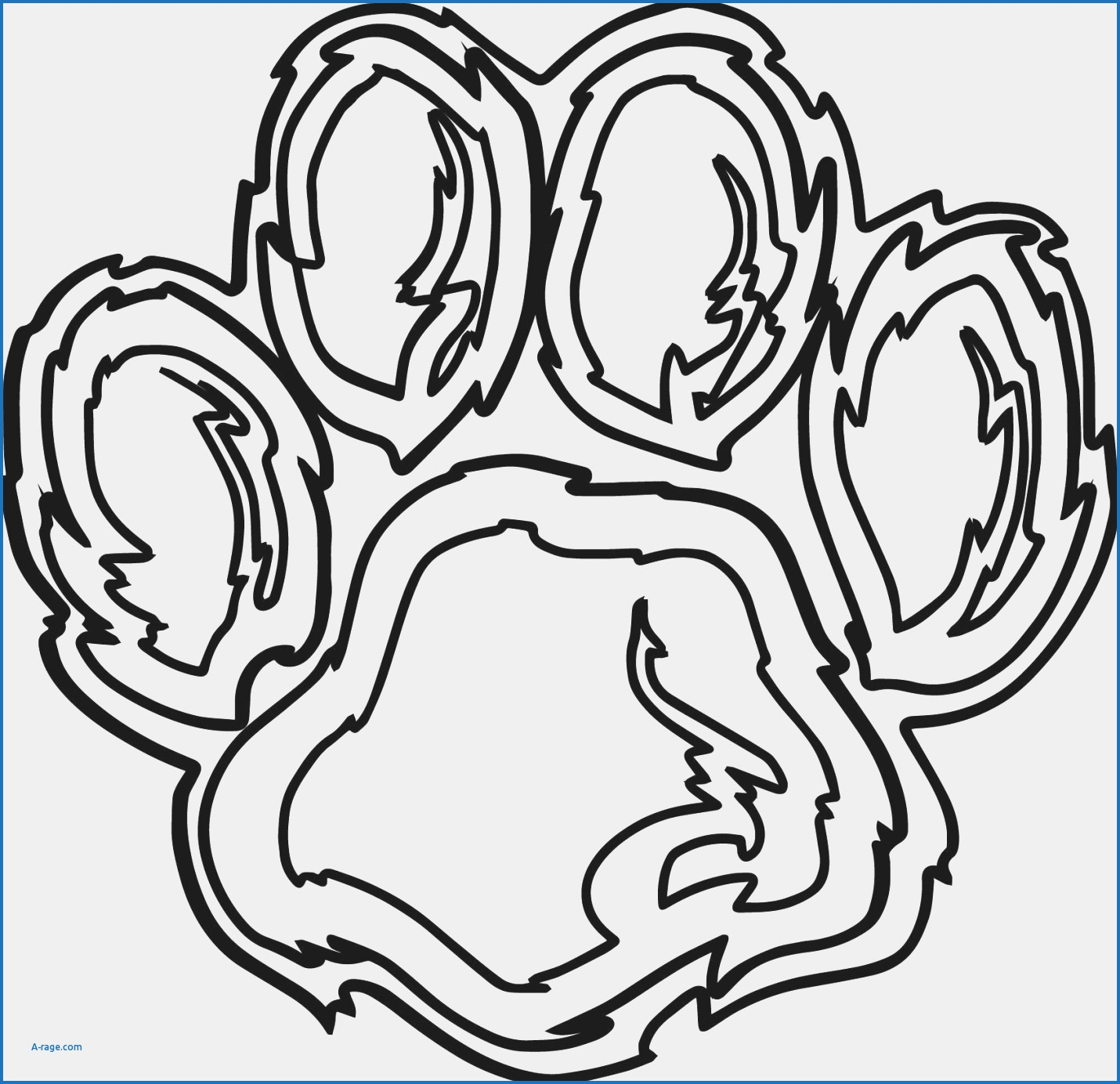 Coloring Page Footprint