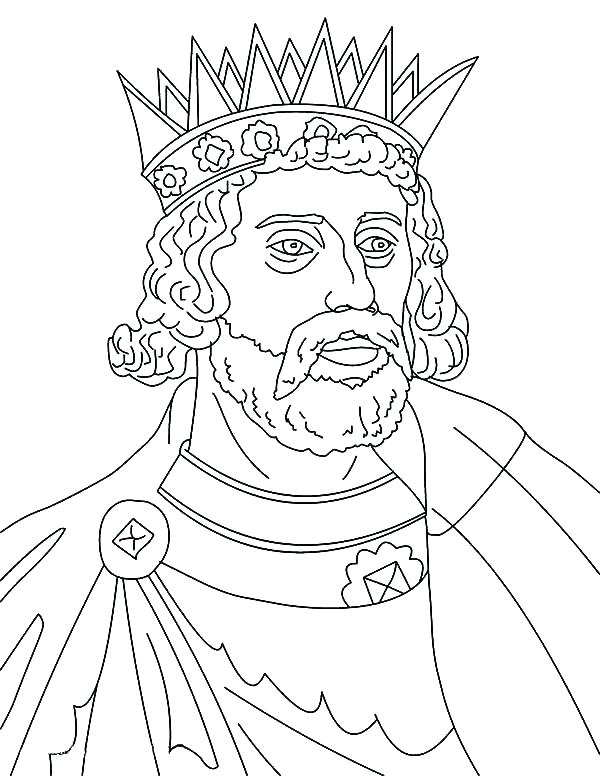 600x776 Coloring Pages King King Coloring Pages King Iii Colouring Page