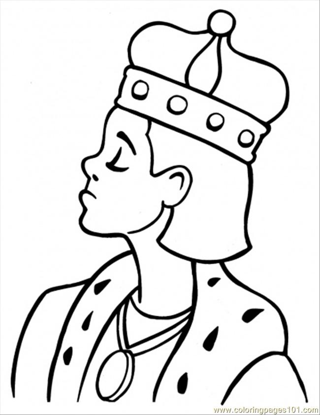 650x842 King Coloring Page