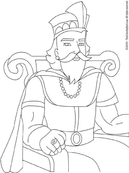 540x720 King Coloring Pages Printable