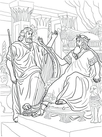 360x480 King David Printable Coloring Pages King And Coloring Page Free