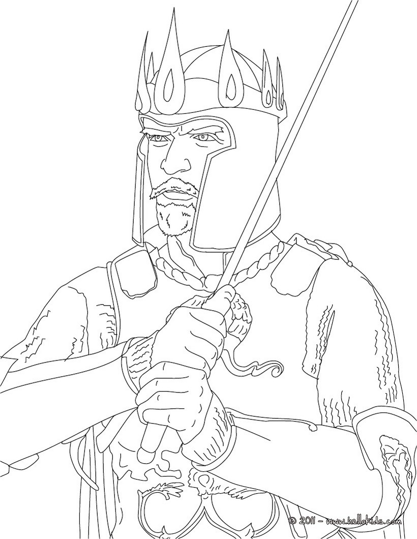 820x1060 King Arthur Coloring Pages
