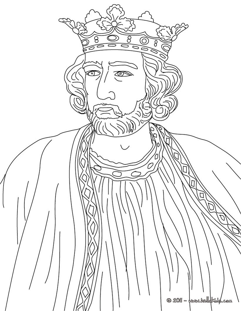 820x1060 King Edward I Coloring Pages