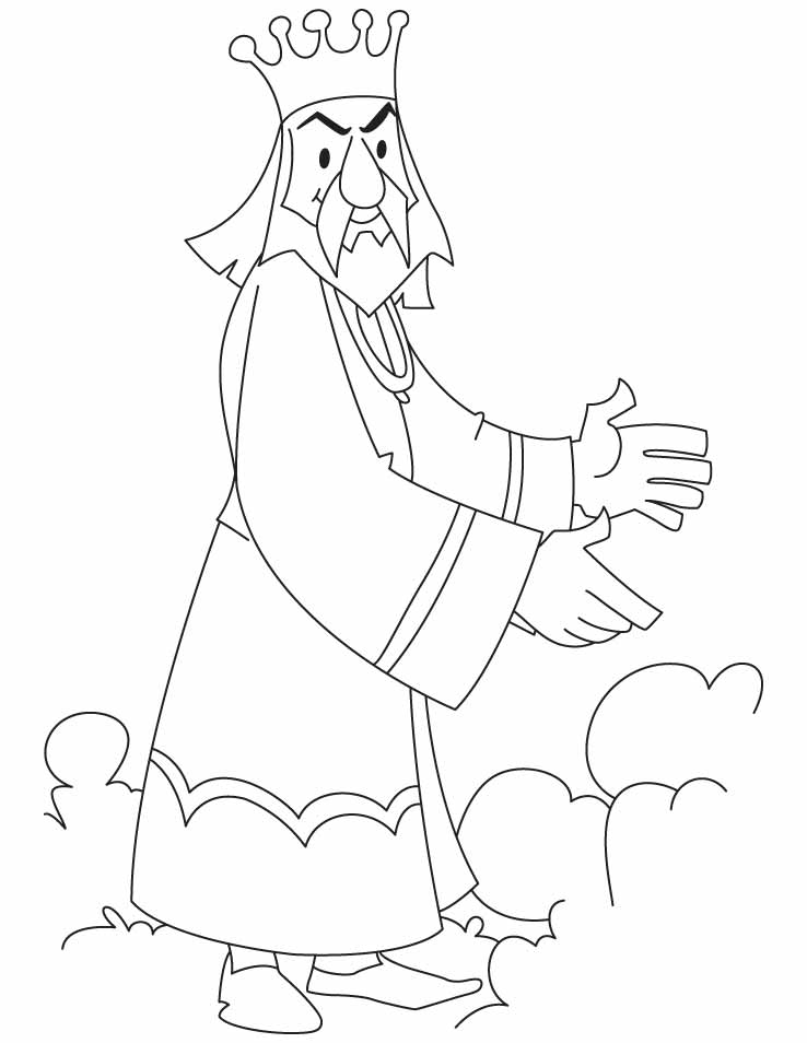 738x954 Royal King Coloring Pages