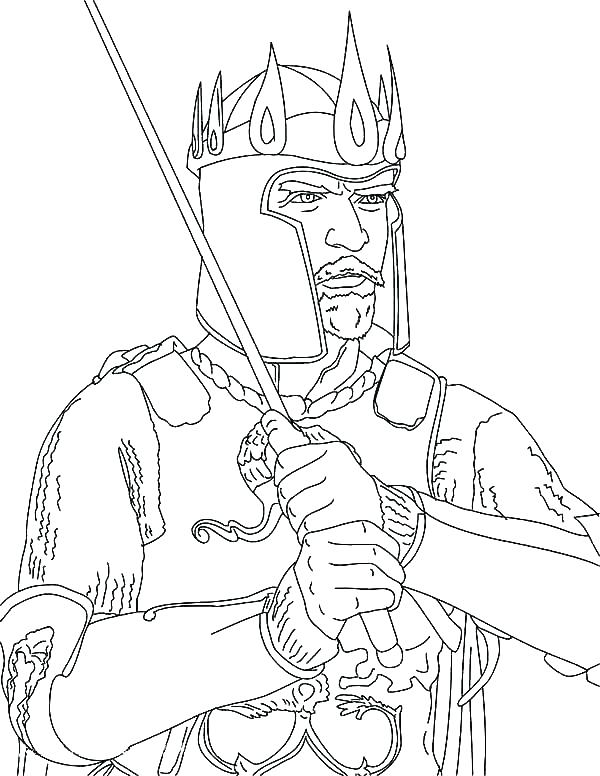 600x776 King Coloring Page