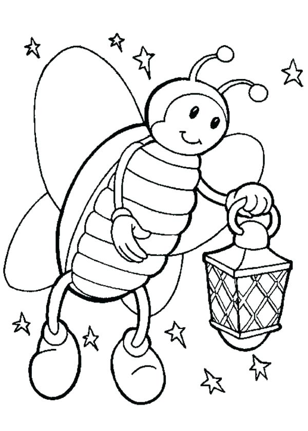 600x840 Firefly Coloring Page Starry Night Coloring Page Firefly On Starry