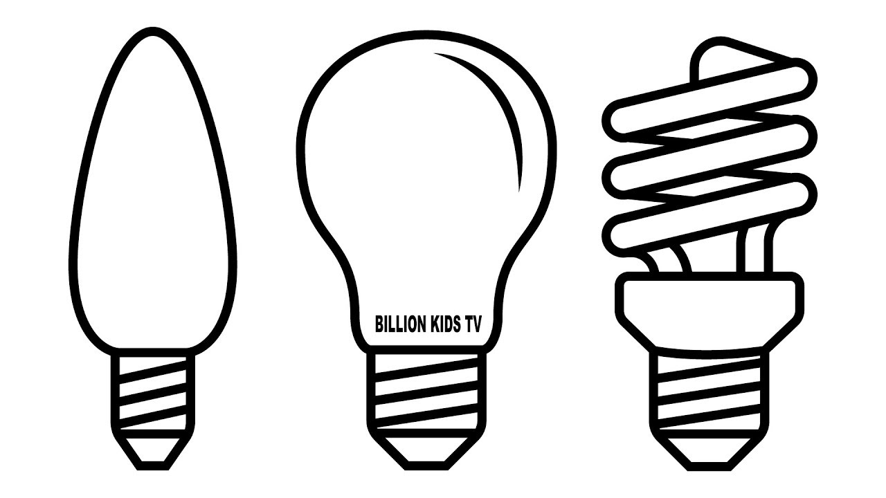 1280x720 Lamp Coloring Pages, Colors For Children, Coloring Book