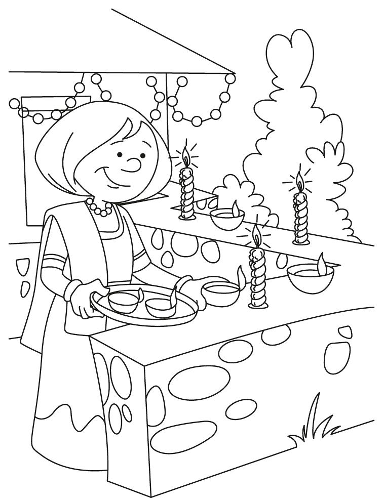 756x990 Coloring Pages Kids Diwali Lamp Colouring Murs
