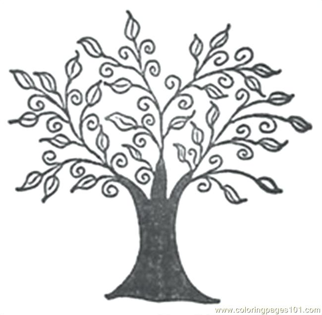 650x636 Oak Tree In The Forest Coloring Page Color Oak Tree In The Forest