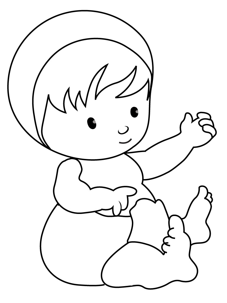 768x1024 Free Printable Baby Coloring Pages For Kids