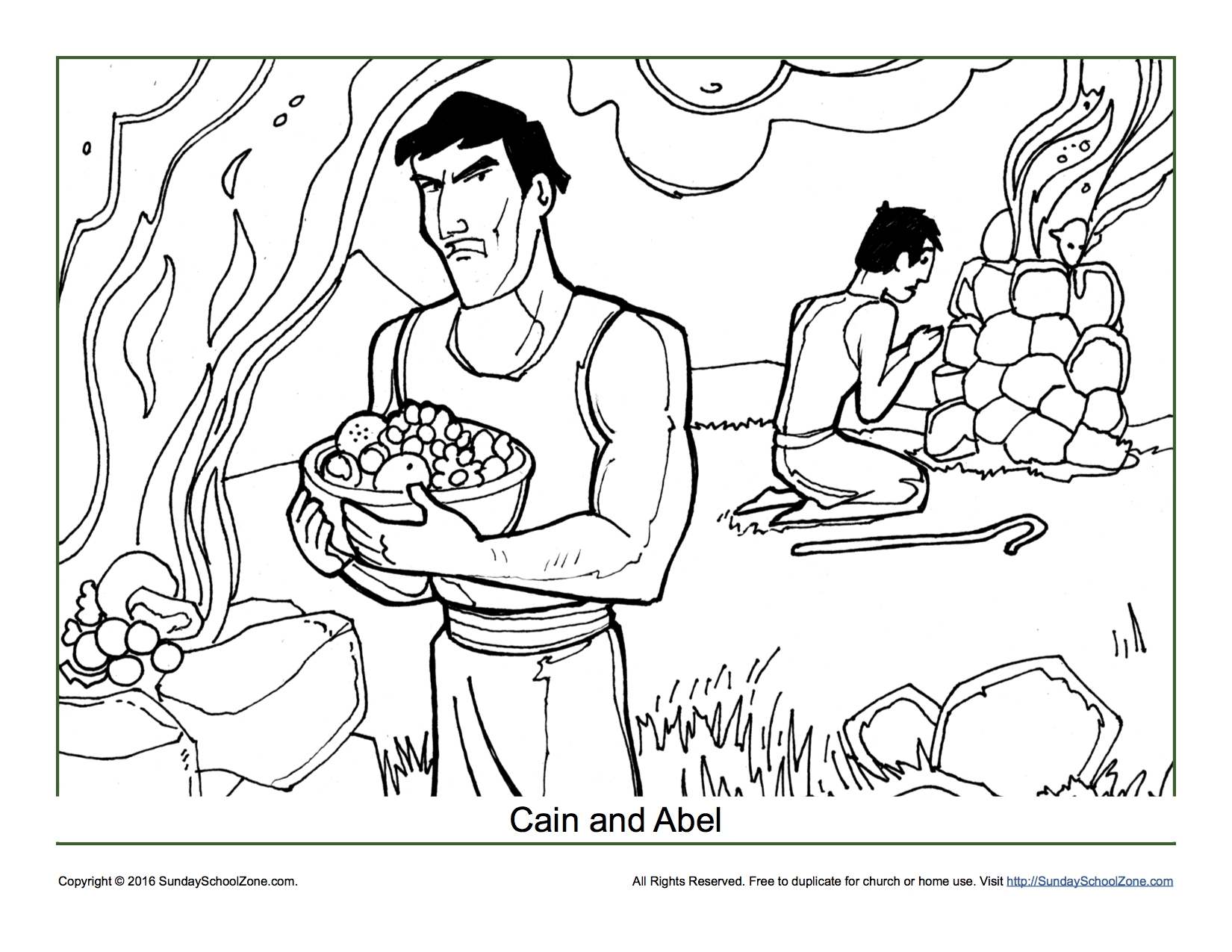1650x1275 Ultimate Cain And Abel Coloring Pages Page Children S Bible Free