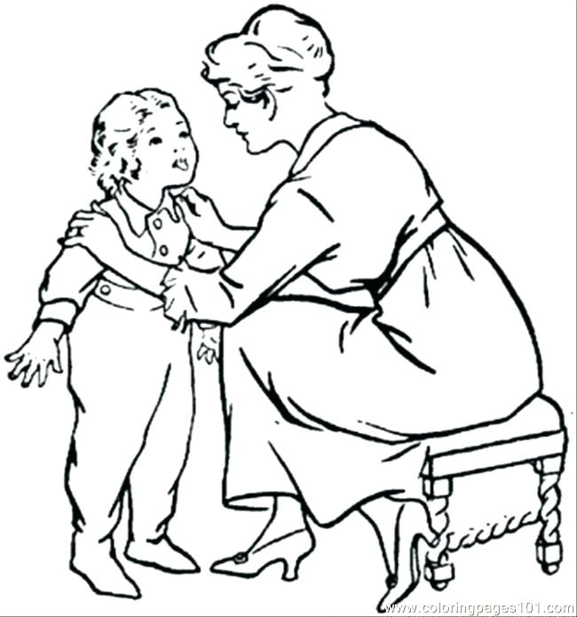 650x695 Child Coloring Pages