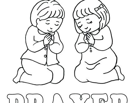 440x330 Child Coloring Page Children Praying Coloring Page Coloring Home