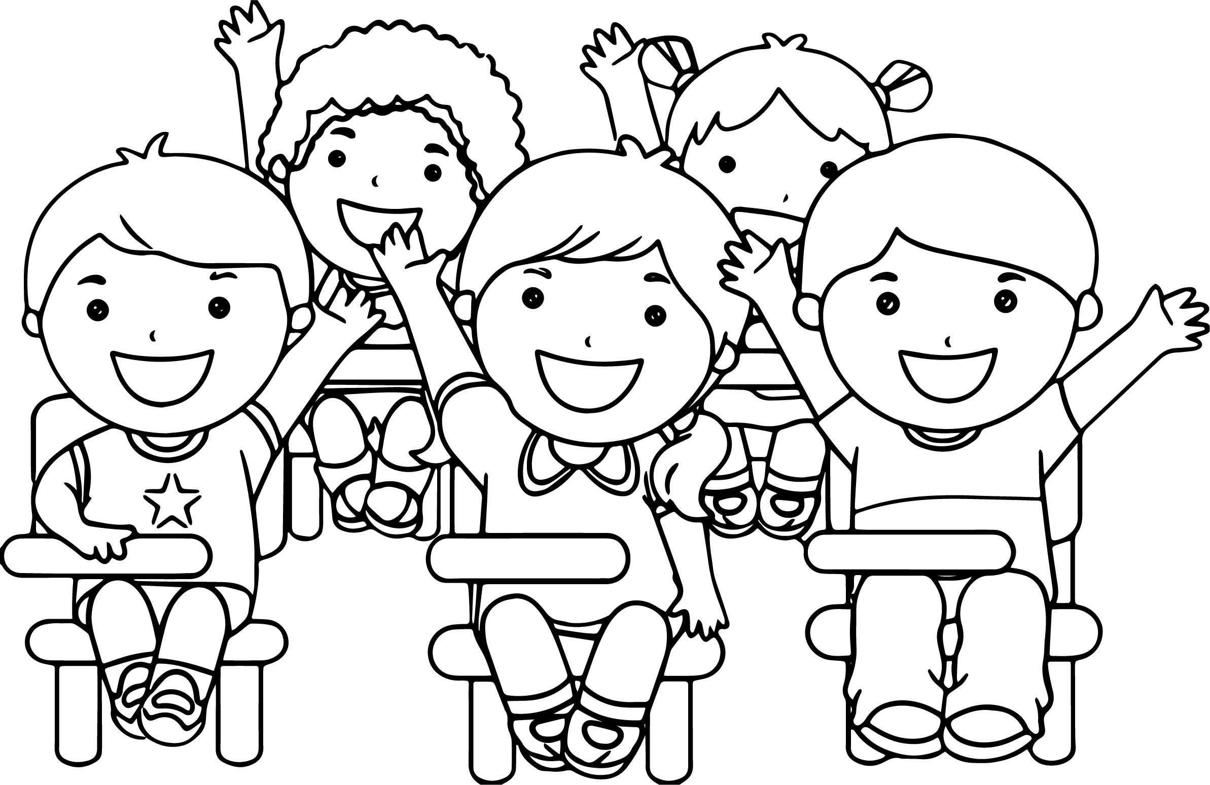 2386x1548 Child Coloring Pages Child Coloring Pages At The School Children