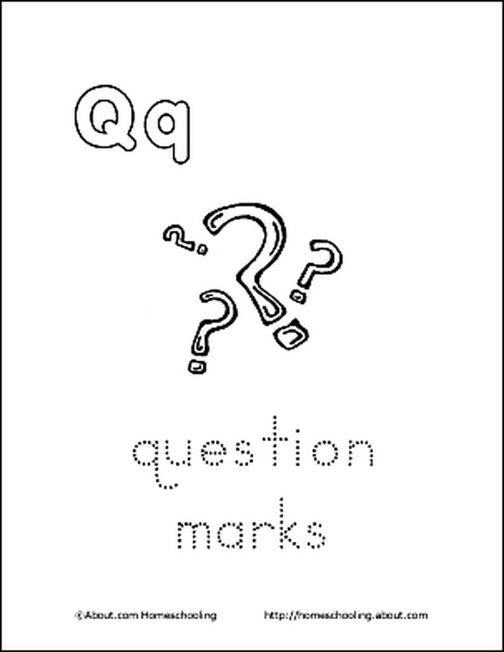 Coloring Page Question Mark