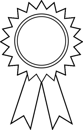 353x550 Award Ribbon Outline On Ribbon Coloring Page