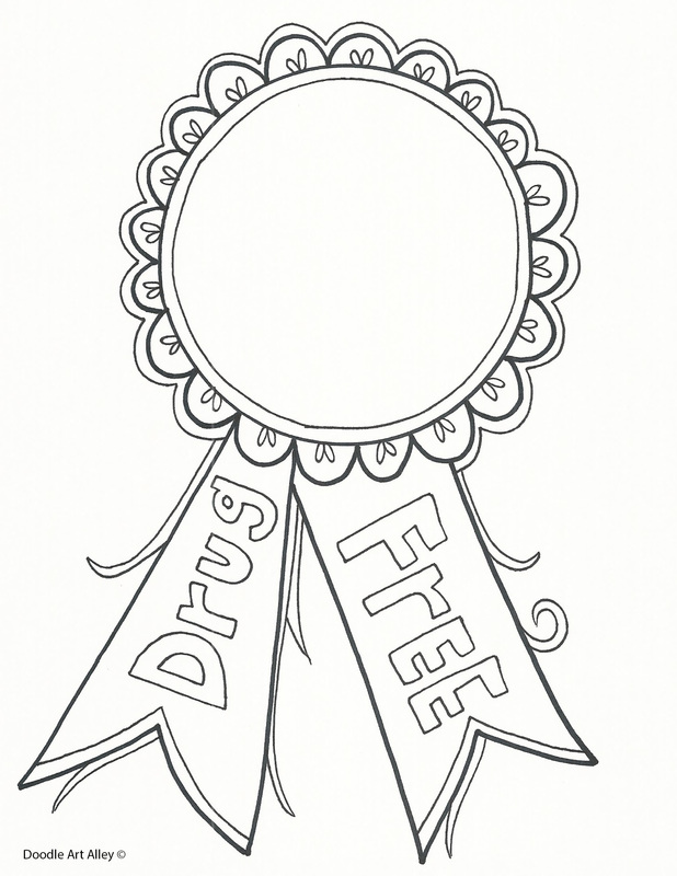 618x800 Red Ribbon Week Coloring Pages And Printables