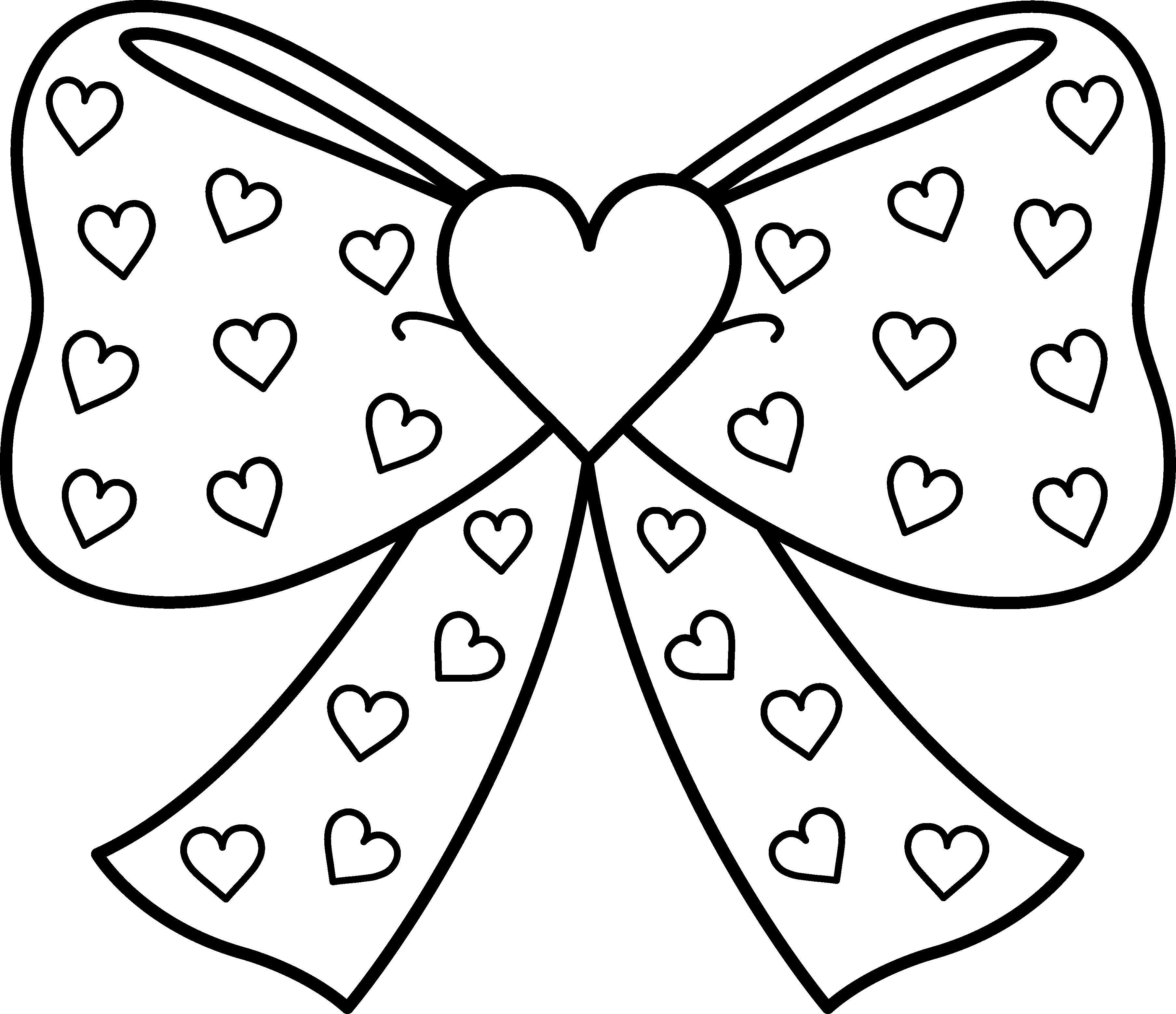3615x3118 Ribbon Coloring Pages Collection For Kids Amazing Of Hearts