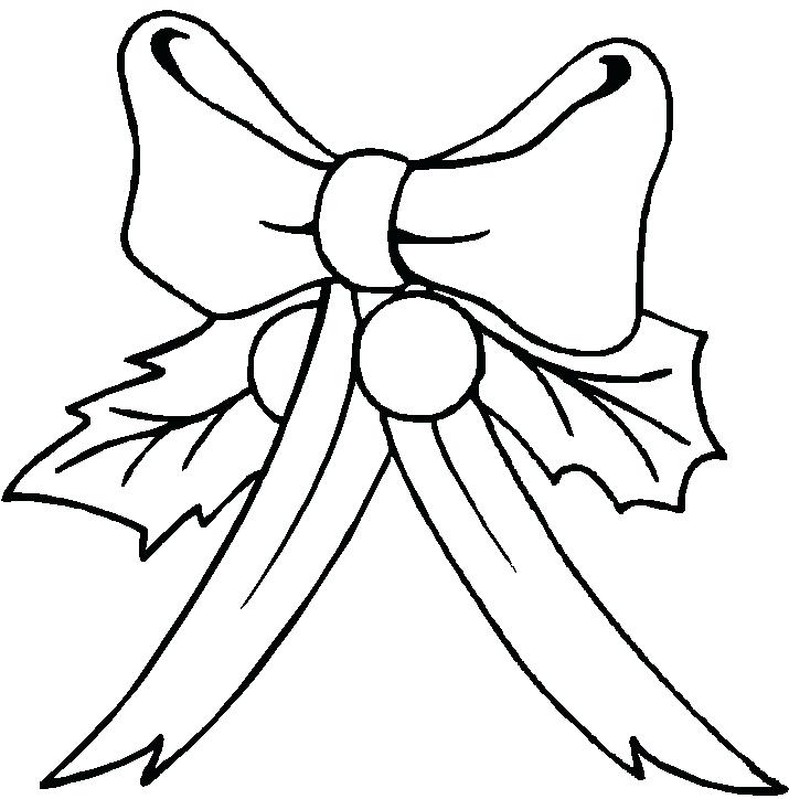 715x724 Bow Coloring Page Ribbon Bow Drawing Coloring Pages Bow Coloring