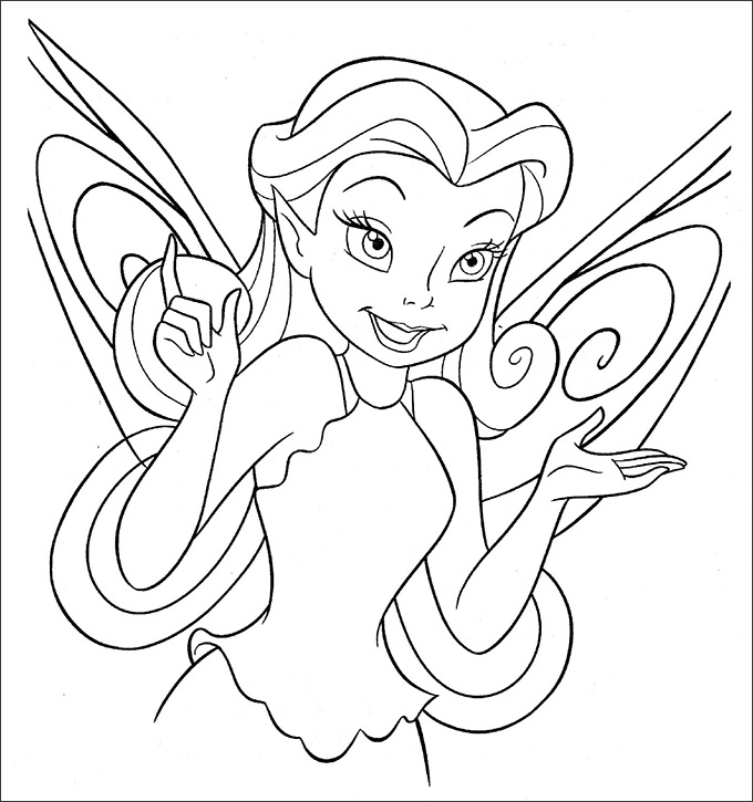 680x725 Coloring Page Templates Tinkerbell Coloring Pages Free Coloring