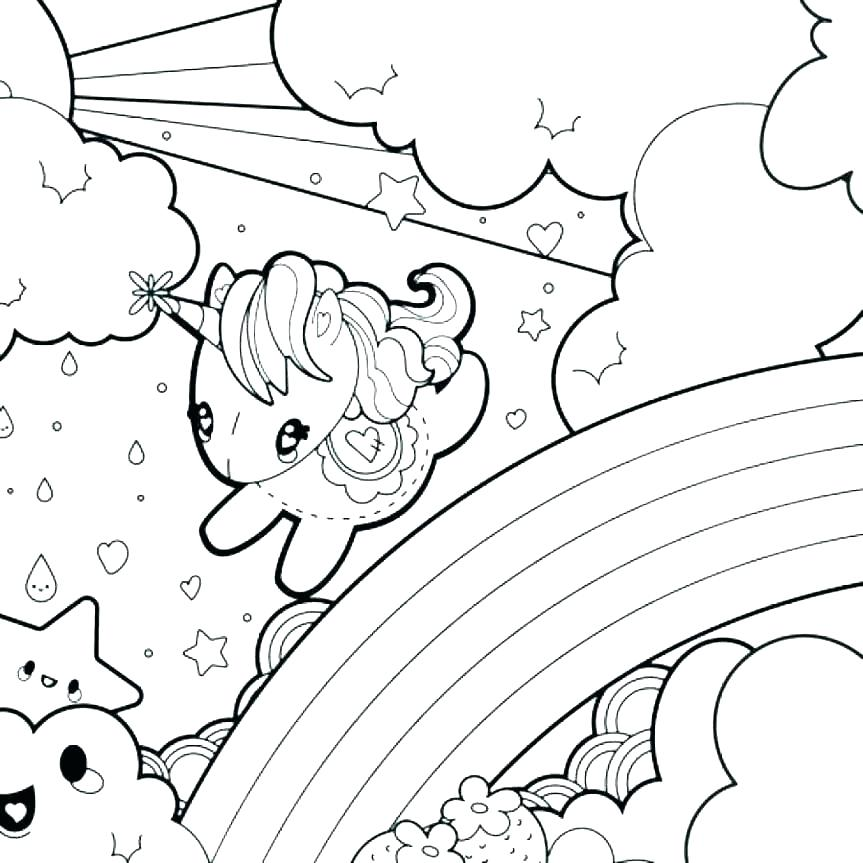 863x863 Rainbow Coloring Page Template Rainbow Coloring Page Printable