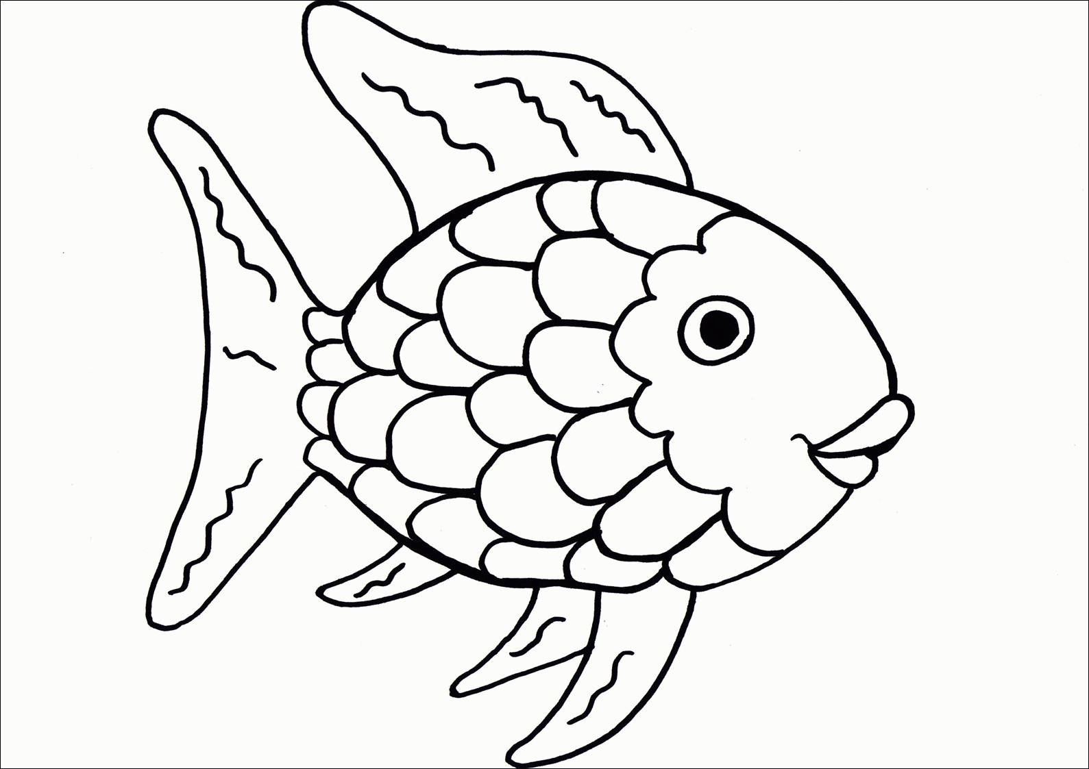 1589x1123 Rainbow Fish Coloring Page Fresh Rainbow Fish Template Coloring