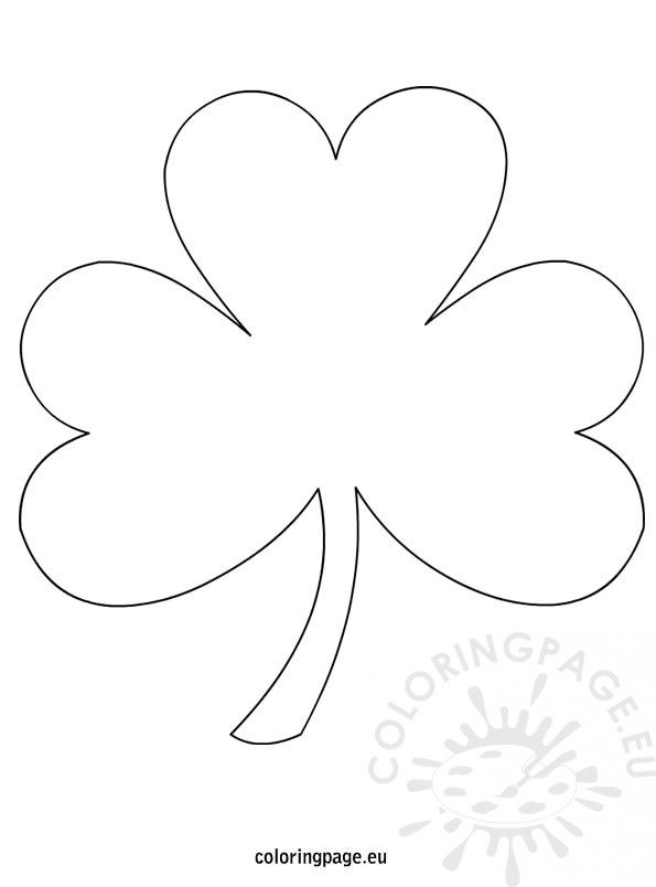 595x804 Shamrock Outline Coloring Page