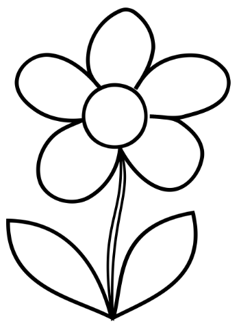 349x480 Simple Flower Coloring Page