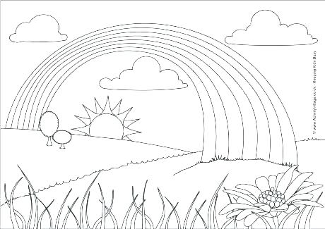 460x325 Rainbow Coloring Page Template