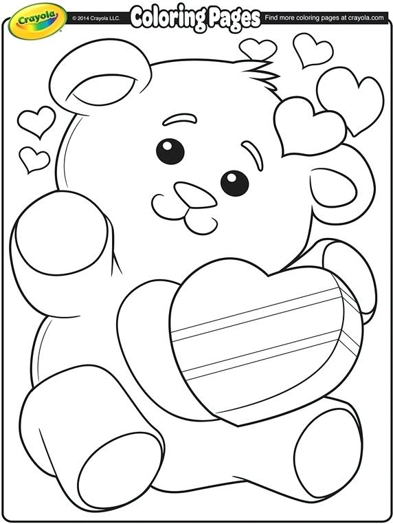 572x762 Teddy Bear Coloring Pages Free Printable Valentines Teddy Bear