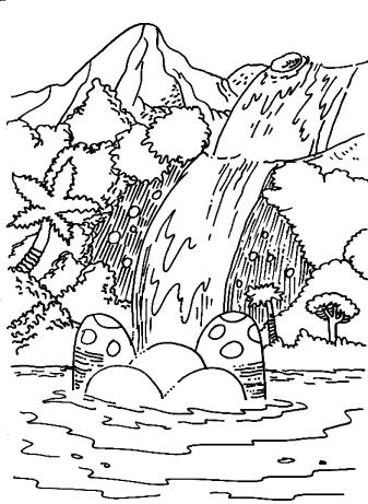 337x461 Free Printable Landform Coloring Pages Waterfall Waterfall