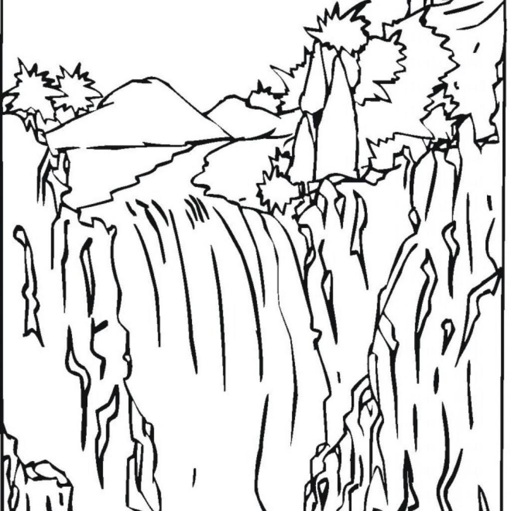 1024x1024 Launching Free Printable Waterfall Coloring Pa