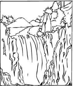 236x277 Waterfall Printable Coloring Page Ittle Waterfall