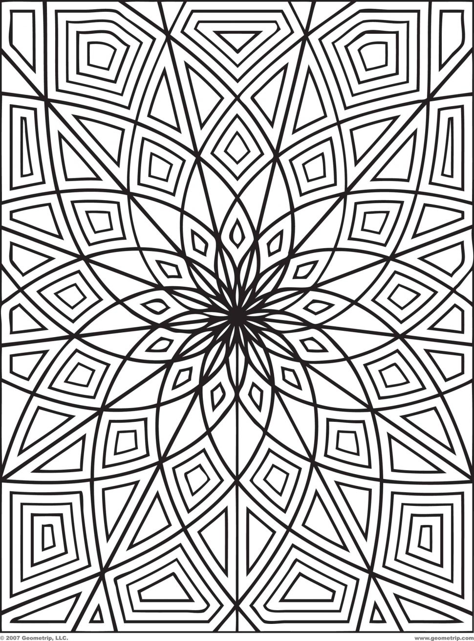 Coloring Pages 3d Designs