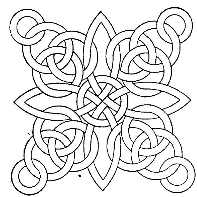 630x630 Geometric Design Coloring Pages Geometric Design Coloring Pages