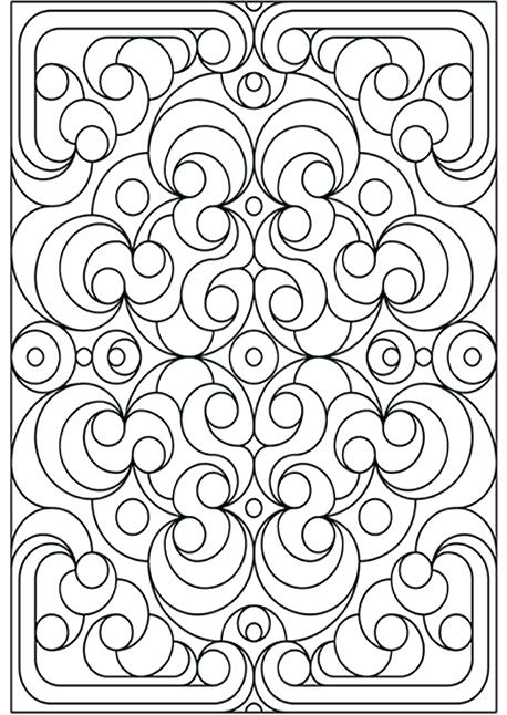 458x646 Geometric Designs Coloring Pages Abstract Coloring Page Abstract