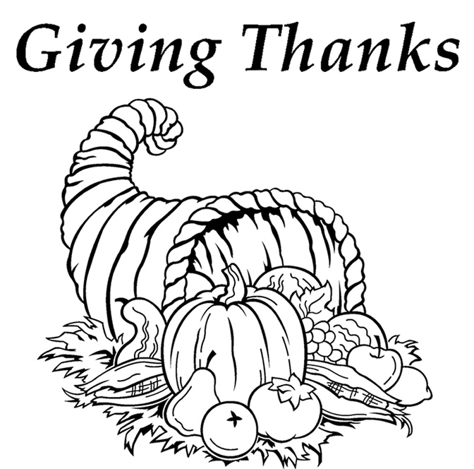 672x664 Giving Thanks Coloring Page